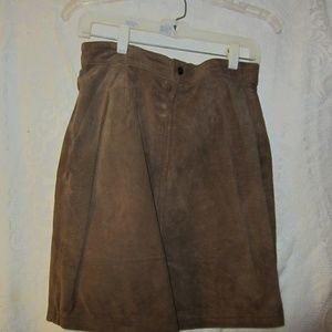 company B casual wear Skirts - Suede skirt and matching vest size 10